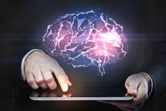 Artificial intelligence and technology concept Stock Photography