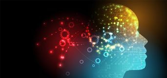Artificial intelligence. Technology web background. Virtual conc Royalty Free Stock Photography