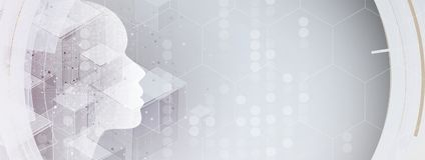 Artificial intelligence. Technology web background. Virtual conc. Abstract Artificial intelligence. Technology web background. Virtual concept Royalty Free Stock Photos