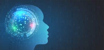 Artificial intelligence. Technology web background. Virtual conc. Abstract Artificial intelligence. Technology web background. Virtual concept Stock Photography