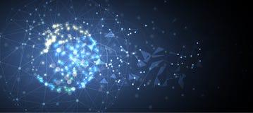Artificial intelligence. Technology web background. Virtual conc. Abstract Artificial intelligence. Technology web background. Virtual concept Royalty Free Stock Photo