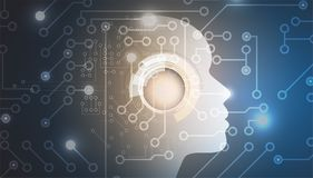 Artificial intelligence. Technology web background. Virtual conc Stock Photos