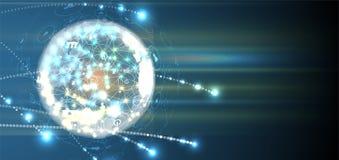 Artificial intelligence. Technology web background. Virtual conc. Abstract Artificial intelligence. Technology web background. Virtual concept Stock Photo