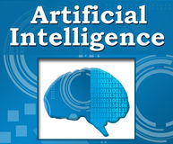 Artificial Intelligence Techy Background Brain Royalty Free Stock Photography