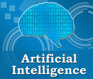 Artificial Intelligence Techy Background Square. Artificial Intelligence concept image with conceptual element over techy background