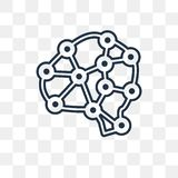 Artificial intelligence vector icon isolated on transparent back vector illustration