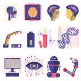 Artificial intelligence vector illustration Stock Image