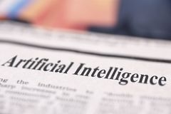 Free Artificial Intelligence Written Newspaper Royalty Free Stock Photo - 109506185