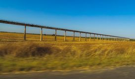 Artificial irrigation canal royalty free stock images