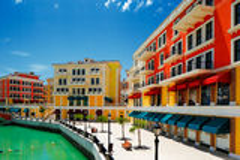 An artificial island Pearl-Qatar in Doha, Qatar royalty free stock photography