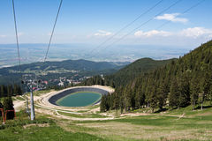 Artificial lake for artificial snow Stock Images