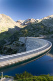 Artificial lake of the dam in the Pyrenees Stock Photos