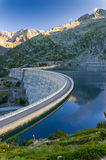 Artificial lake of the dam in the Pyrenees Royalty Free Stock Images