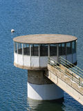 Artificial lake. Intake tower Royalty Free Stock Photography