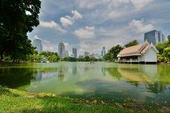 The artificial lake. Lumphini Park. Bangkok. Thailand Stock Images