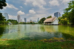 The artificial lake. Lumphini Park. Bangkok. Thailand Royalty Free Stock Image
