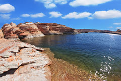 The artificial Lake Powell in the California Stock Images