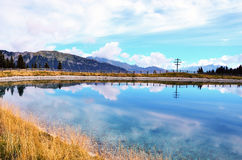 Artificial lake in racines Royalty Free Stock Photography