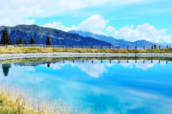 Artificial lake in racines Stock Photos