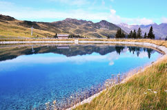 Artificial lake in racines Royalty Free Stock Photo