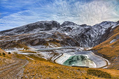 Artificial Lakes in Mountains Stock Image