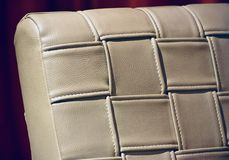 Artificial leather cover of a luxurious chair unique photograph. Stylish artificial leather cover object of a luxurious chair unique stock photograph royalty free stock photos