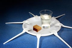 Artificial life. Shortage of food and water Stock Images