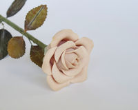 Artificial light pink rose Royalty Free Stock Image