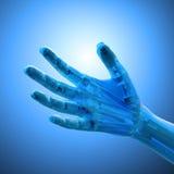 An artificial limb. Prosthetics  and robotics technology concept Royalty Free Stock Photo