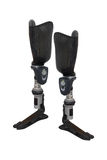 Artificial limb. Under the white background royalty free stock photo