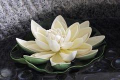 The artificial lotus stock photos