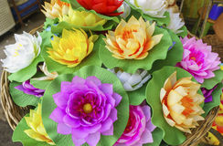 Artificial lotus Royalty Free Stock Images