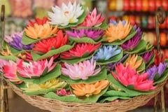 Artificial lotus Stock Images