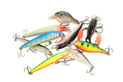 Artificial lures Stock Photography