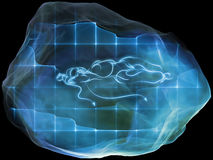 Artificial Mind Particle Royalty Free Stock Photo