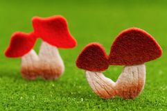Artificial mushrooms Stock Images