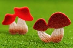 Artificial mushrooms Stock Images