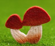 Artificial mushrooms Royalty Free Stock Image
