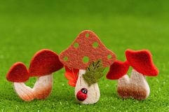 Artificial mushrooms Stock Photography