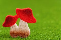 Artificial mushrooms Royalty Free Stock Image