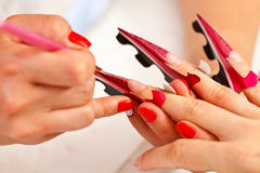 Artificial nail making Stock Photography