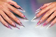 Artificial nails art Royalty Free Stock Images