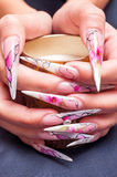 Artificial nails art Royalty Free Stock Image