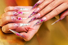 Artificial nails art Stock Images