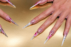 Artificial nails art Stock Photography