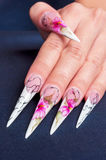 Artificial nails art Stock Photo
