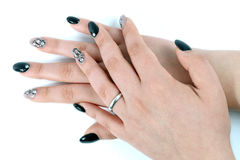 Artificial nails with the gel Royalty Free Stock Images