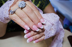 Artificial nails Stock Images