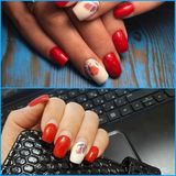 Artificial nails need to be adjusted stock photos