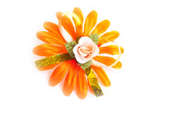 Artificial orange flower Stock Photography